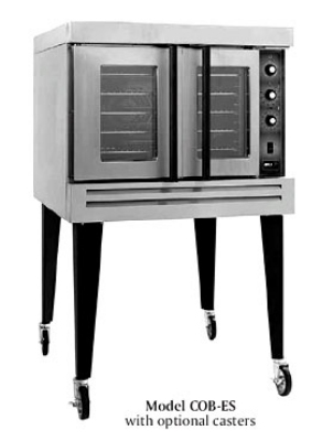 B.K.I. COB-ED Double Full Size Electric Convection Oven - 220v/1ph