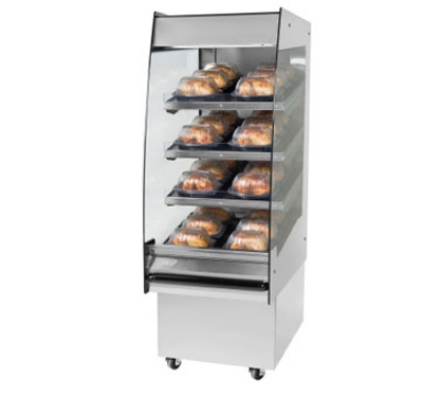 "B.K.I. HSS2-4S 230 24"" Hot Self Serve Merchandiser, Marine Edge, (4) Slanted Short Shelf, 230/1 V"