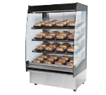 "B.K.I. HSS3-4S 220 36"" Hot Self Serve Merchandiser, Marine Edge, (4) Slanted Short Shelf, 220/1 V"