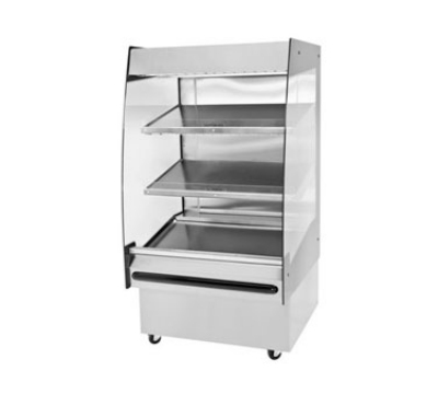 "B.K.I. HSS3-3 240 36"" Hot Self Serve Merchandiser w/ Marine Edge & (3) Slanted Shelves, 240/1 V"