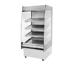"B.K.I. HSS3-4T 230 36"" Hot Self Serve Merchandiser, Marine Edge, (4) Slanted Tall Shelf, 230/1 V"
