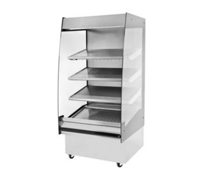 "B.K.I. HSS3-4T 220 36"" Hot Self Serve Merchandiser, Marine Edge, (4) Slanted Tall Shelf, 220/1 V"