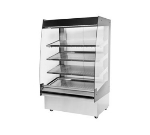 "B.K.I. HSS4-4T 220 48"" Hot Self Serve Merchandiser, Marine Edge, (4) Slanted Tall Shelf, 220/1 V"