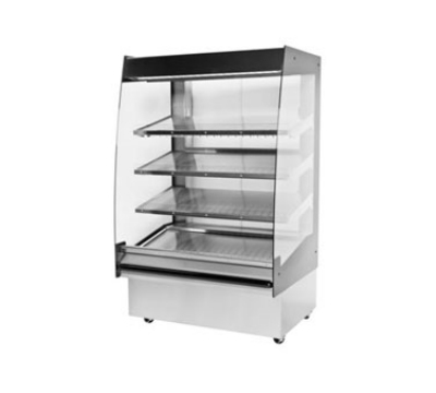 BKI HSS4-4T 240 48-in Hot Self Serve Merchandiser, Marine Edge, (4) Slanted Tall Shelf, 240/1 V