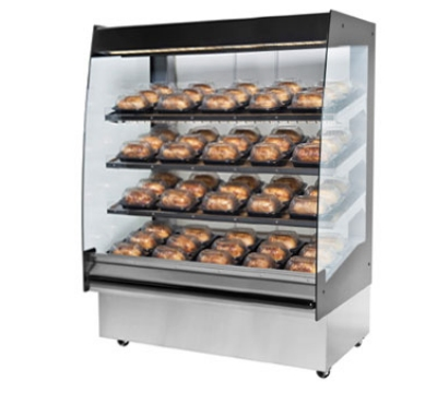 "B.K.I. HSS4-3 230 48"" Hot Self Serve Merchandiser w/ Marine Edge & (3) Slanted Shelves, 230/1 V"