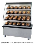"B.K.I. MDW-48-3CT 2081 48"" Hot Food Self Service Case w/ 3-Shelves & 24-Domes, Countertop, 208/1 V"