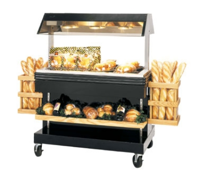 "B.K.I. MM-4 120 46.87"" Mobile Heat Display Merchandiser w/ 6"" Well, Holds 24-Chicken, 120 V"