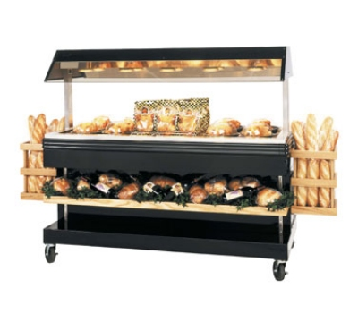 "B.K.I. MM-6 120 68.87"" Mobile Heat Display Merchandiser w/ 6"" Well, Holds 36-Chicken, 120 V"