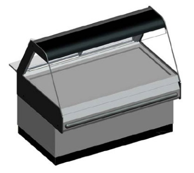 B.K.I. WDCG-4T 2403 Global Heated Display Merchandiser w/ 4-Wells & 55.5-in Custom Case, 240/3 V