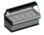 B.K.I. WDCG-5T 2083 Global Heated Display Merchandiser w/ 5-Wells & 69-in Custom Case, 208/3 V