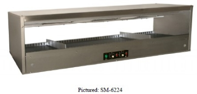 "B.K.I. SM-5024L 50"" Self-Service Countertop Heated Display Shelf - (1) Shelf, 120v"