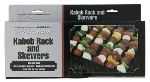 Chef Master / Mr. Bar B Q 02007P Deluxe Shish Kabob Set, Includes (6) Non-Stick Skewers And Frame