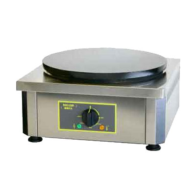 "Equipex 400E 15.75"" Single Crepe Maker w/ Cast Iron Plate, 240v/1ph"