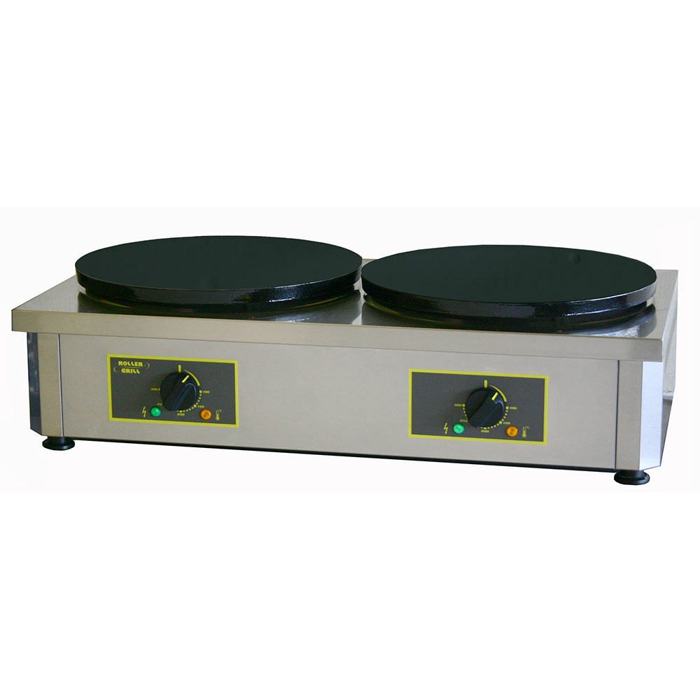 "Equipex 400ED 15.75"" Double Crepe Maker w/ Cast Iron Plates, 240v/1ph"