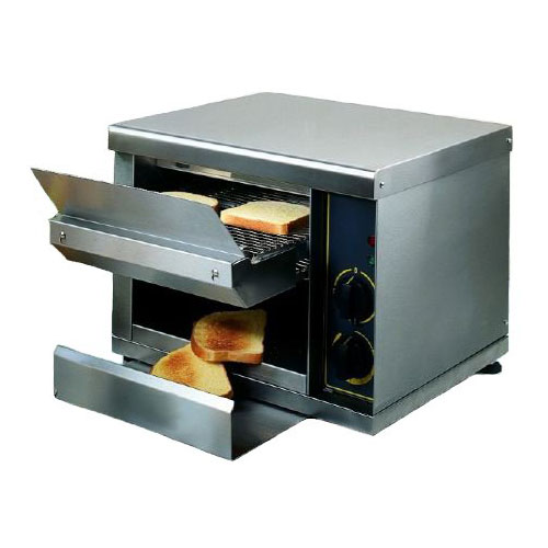Equipex CT-540 Conveyor Bagel Toaster w/ 540-Slices/hr - Stainless, 240v/1ph