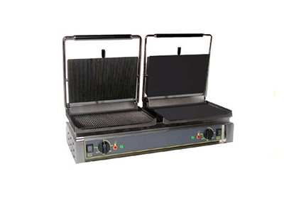 Equipex DIABLO GS Panini Grill w/ Grooved Left and Smooth Right, 208/240v/1