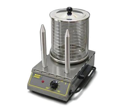 Equipex CS2E European Style Hot Dog Steamer w/ Pyrex Glass, 40-Dog, 2-Spikes, 120 V