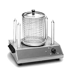 Equipex CS4E European Style Hot Dog Steamer w/ Pyrex Glass, 40-Dog, 4-Spikes, 120 V