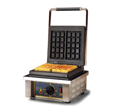 Equipex GES10 Single Waffle Baker w/ Cast Iron Plates, 220v/1ph