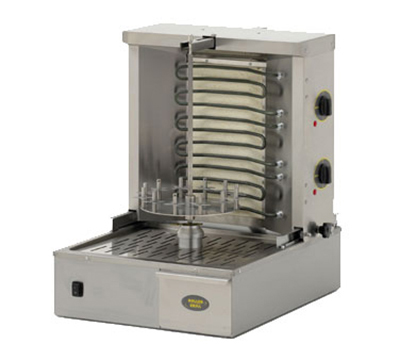 Equipex GR 40E 33-lb Gyro Grill w/ 2-Independent Control Zones, 3-Heat Element, 208-240v/1ph