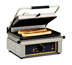 Equipex PANINI G Commercial Panini Press w/ Cast Iron Grooved Plates, 208-240v/1ph