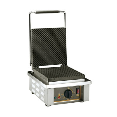 Equipex GES40 Single Waffle Maker w/ Cast Iron Plates, 220v/1ph