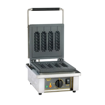 Equipex GES80/1 Single Silo Waffle Baker w/ Drip Tray - Stainless, 120v