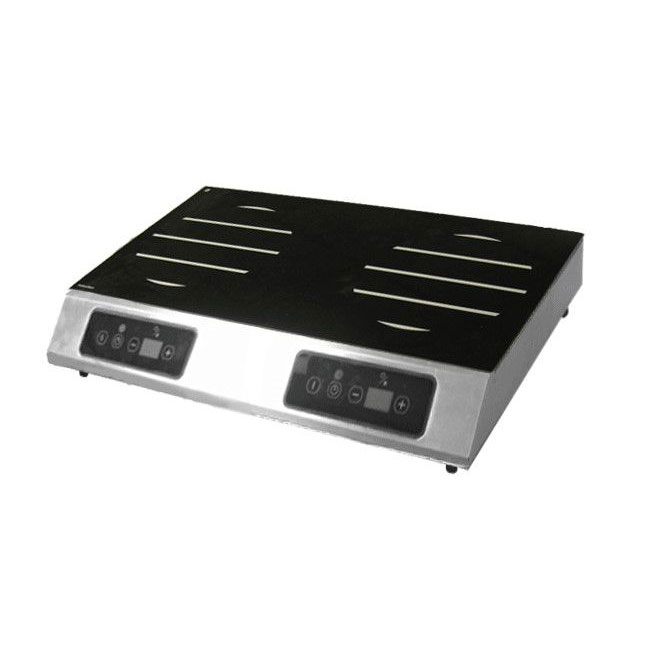 Equipex GL2-6000 Countertop Commercial Induction Cooktop w/ (2) Burners, 208-240v/1ph