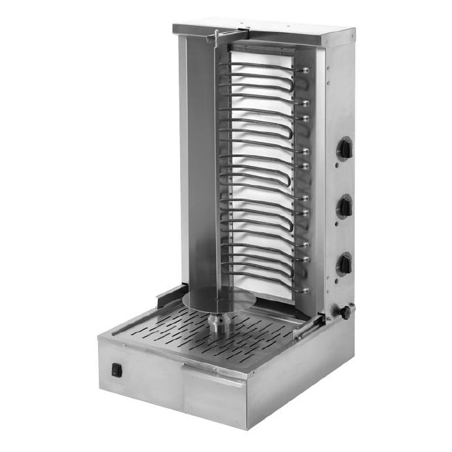 "Equipex GR 80E 88-lb Gyro Grill w/ 2""dependent Control Zones, 5-Heat Element, 208-240v/3ph"