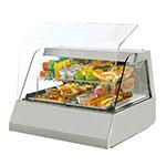 "Equipex HOT 200 32"" Full-Service Countertop Heated Display Case - (2) Pan Capacity, 208v/240v/1ph"