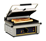 Equipex PANINI S/S Commercial Panini Press w/ Cast Iron Smooth Plates, 208-240v/1ph
