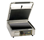 Equipex PANINIVC GS Commercial Panini Press w/ Glass Ceramic Grooved Top/Smooth Bottom Plates, 120v