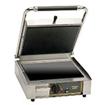 Equipex PANINI VC S/S Commercial Panini Press w/ Glass Ceramic Smooth Plates, 120v