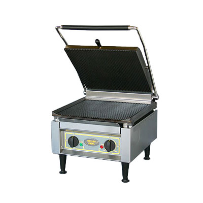 Equipex PANINI XL G/S Commercial Panini Press w/ Cast Iron Grooved Top/Smooth Bottom Plates, 208-240v/1ph