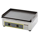 "Equipex PSE-600/1 23"" Electric Griddle - Thermostatic, Cast Iron Plate, 120v"