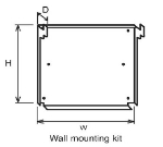 Equipex SM-2 Wall Mounting Kit for SEM-80-1 & SEM-80-3