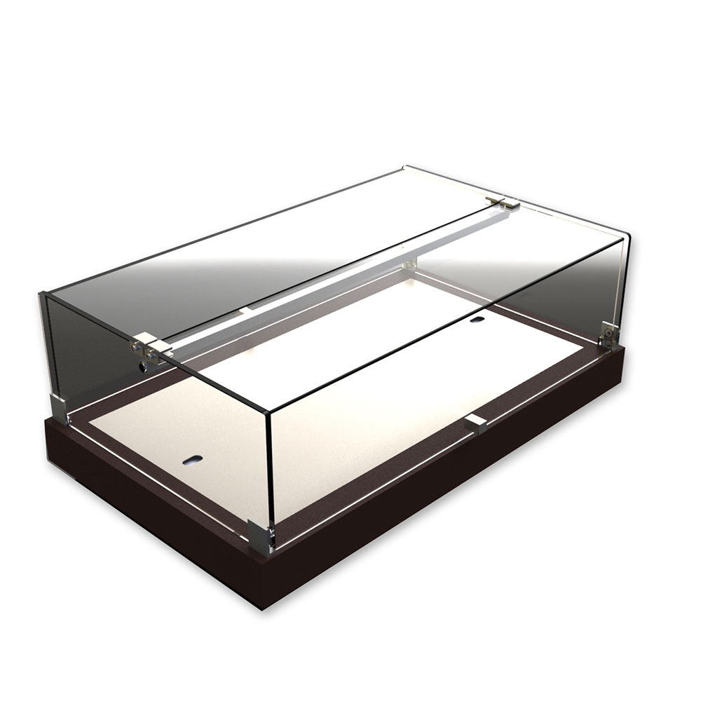 Equipex TE58C Plexiglass Dual Service Display w/ Eutectic Chill, 23-1/8 x 13 x 7-7/8-in