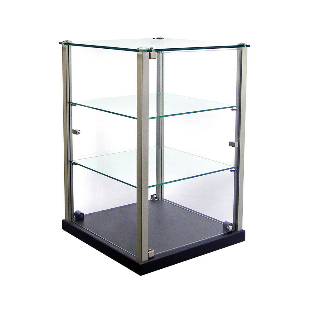 Equipex TP353 Enclosed Pass-Thru Display w/ (2) Glass Vertical Door, 14x14x 20.75""