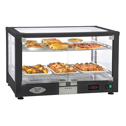 "Equipex WD780B-2 30.5"" Countertop Warming Display - (2) Shelves, Black, 120v"