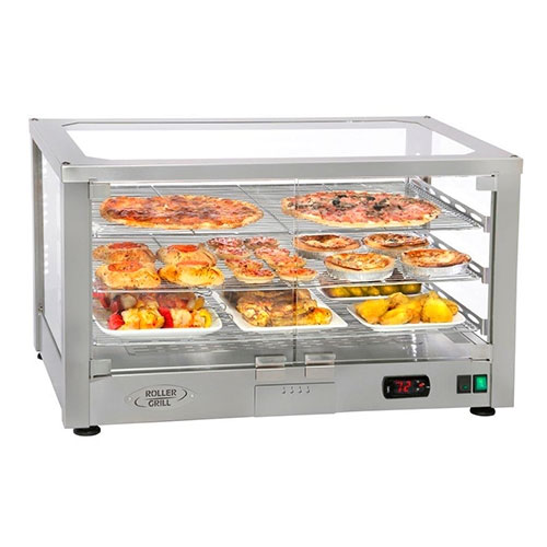 """Equipex WD780S-2/1 30.5"""" Countertop Warming Display - (2) Shelves, Stainless, 120v"""