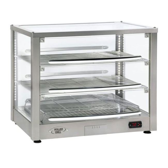 "Equipex WD780SS-3 30.5"" Countertop Warming Display - (3) Shelves, Stainless, 120v"