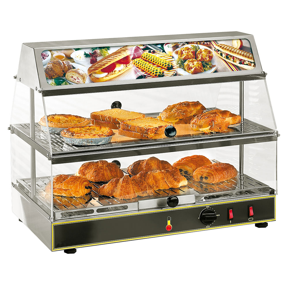 Equipex WDL-200 24-in Countertop Display Warmer w/ 2-Shelves, 120 V