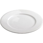 Revol 615394 11.75-in Porcelain Alaska Plate, Dishwasher Safe, White
