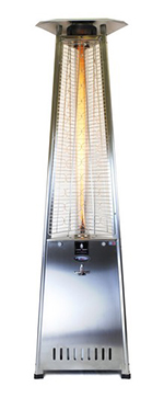 Lava Heat Italia LAVA2GSSNG Portable Outdoor Heater w/ Infrared Remote Control, 61,000-BTU, Stainless, NG