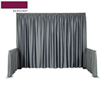 "Snap Drape 1BDWYN40118 BRGDY 118"" Wyndham Backdrop Drape w/ Shirred Pleat, Poly, Burgundy"