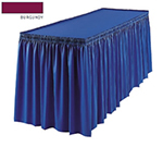 Snap Drape 1FSMEL63030 BUR 6-ft Melrose Fitted Table Cover Set w/ Shirred Skirt, Burgundy