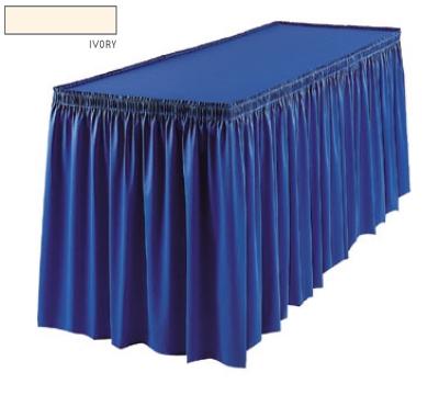 Snap Drape 1FSMEL63030 IVRY 6-ft Melrose Fitted Table Cover Set w/ Shirred Skirt, Ivory