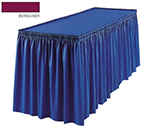Snap Drape 1FSMEL83030 BUR 8-ft Melrose Fitted Table Cover Set w/ Shirred Skirt, Burgundy