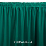 Snap Drape 1FSWYN63030 TL 6-ft Wyndham Fitted Table Cover Set w/ Shirred Skirt, Teal