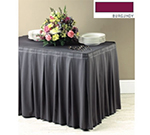 Snap Drape 5FSMEL63030 BUR 6-ft Melrose Fitted Table Cover Set w/ Continuous Pleat, Burgundy